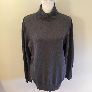 Lane Bryant gray turtleneck sweater size 22/24